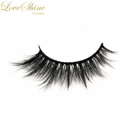 68d7357755f Women′s Makeup Mink Eyelash Natural Long Cross Fake Eyelashes Extensions 3D  Mink Fur False