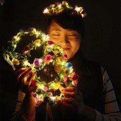 LED Flower Headdress for Wedding Festival Holiday Christmas Halloween Party 7928fd26212d