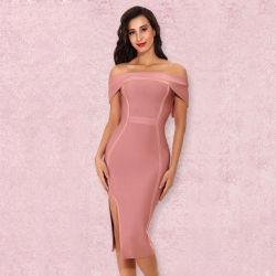 019198091c Bandage Dress Sexy Women Dress Strapless off Shoulder Bodycon Bandage Dress