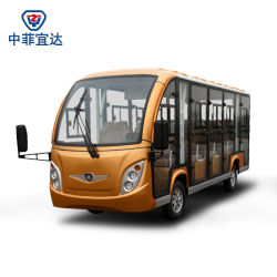 14 Seats off Road Battery Powered Classic Shuttle Enclosed Electric Sightseeing Car with Ce SGS Certificate Aluminum Material Never Rust