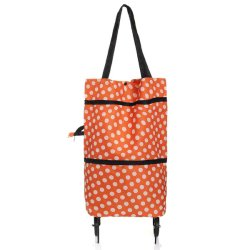 Large Dual Tote Cart Foldable Grocery Shopping Bag with Wheels