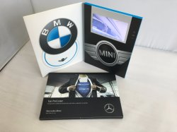 High Quality 7inch LCD Video Player Gift Brochure Card, Video Book with Memory and Multiple Buttons