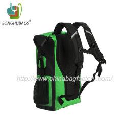 Custom Green Color Sport Waterproof Dry Backpack Bag with Shoulder Straps