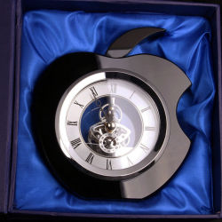 Wholesale Crystal Apple Clock for Home Decoration