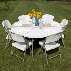 Wholesale PP Plastic Round Folding Table For Outdoor Or Indoor Reception