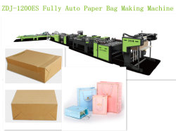 latest model fully auto paper bag making machine with bottom card auto feeding - Card Making Machine