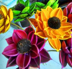 Fake Flower Plastic Flower Artificial Flower Synthetic Flower Sunflower Landcape Flower for Decoration