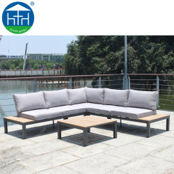 L Shape Outdoor Sofa Set with Cushion and Coffee Table (DW-SF1906)