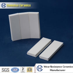 Welding Alumina Wear Ceramic Tile with Hole and Steel Ferrule