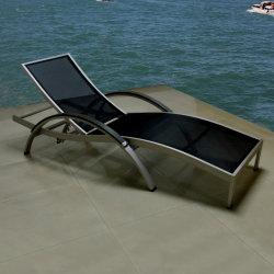 Outdoor Patio Brushed Aluminum Folding Sunbed Deck Chair Sun Lounger