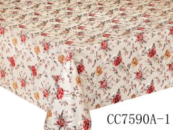 XHM Wholesale Metal Emboss Printed Laminated Muslim Design PVC Tablecloth Roll Textile & Weaving Crafts