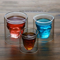 Creative Double Skull Cup for Wine, Beverage, Water Storage