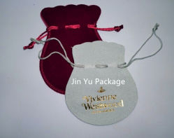 Purple Custom Electric Gift Jewelry Pouch Bags with Nylon Drawstrings