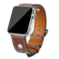 Fashion Design Good Quality 22mm Width Genuine Leather Apple Watch Strap
