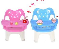 2017 New Sample Cat Shape Musical Cushion Kids Feeding Plastic Chair