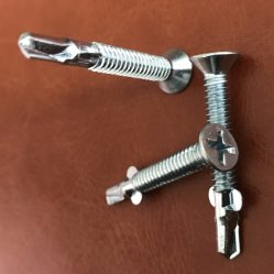 Flat Head with 6ribs Philips Self Drilling Screws with Wing Zinc Plated High Quality