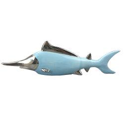 Creative Home Decoration Ceramic Blue Fish for Home Decoration