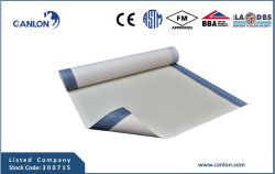 HDPE Pre-Applied or Cold-Applied Self Adhesive Waterproof Membrane (with ziplap adhesive)