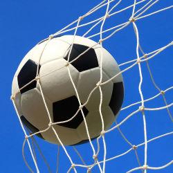 Wholesale PE Knotted Football or Soccer Ball Net Soccer Goal Net