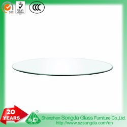 5-19mm Tempered Glass Clear Glass Table Top with Customized Shape