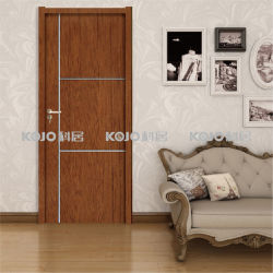 Eco Friendly PVC Laminated Wood Plastic Composite Door With SGS  Certificates (KM 05