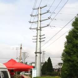 Credible Chinese Made Steel Guyed Power Transmission Line Pole
