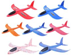 EPP Hand Launch Throwing Inertia Glider Aircraft Shaped Fighter Flying Toys Outdoor Sports Party Gift for Kids Children Trick Foam Model Airplane