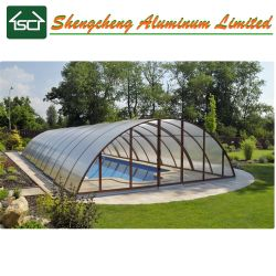 Long Warranty Safety Aluminum Swimming Pool Cover / Retractable Swimming Pool  Enclosure