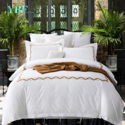Yrf Wholesale 5 Star Hotel Fitted Bed Sheet Embroidered Cotton Bedding