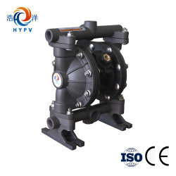 "2018 Shanghai Haoyang Slurry Pneumatic Pump Water Mud Aluminum Alloy Pump Air Double Diaphragm 1"" Pump"