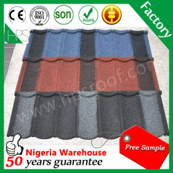 Galvanized Coated Chinese Stoned Metal Roof Tiles French Tile