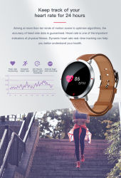 Factory Outlet Bluetooth Round Color Screen Sports Fitness Waterproof Smart Watch with Heart Rate/Sleep Monitoring/Pedometer/Sedentary Reminder/Blood Pressure.