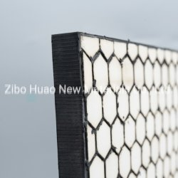 Rubber Backed Wear Resistant Panel Made Hot Vulcanizing with 92% Wear Resistant Alumna Ceramic