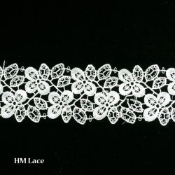 Offwhite Elegant Floral Lace Trimming Apparel Trim Fabric Accessories L002