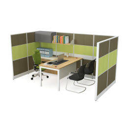 Eco Friendly MFC Head Office Partition with Desk and Big File Cabinet