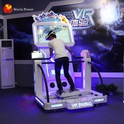 Indoor Game Machine Vr Skiing 9d Racing Sports Simulator
