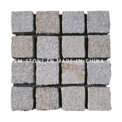 Natural Grey Granite Tumbled Paving Cubestone for Flooring, Driveway