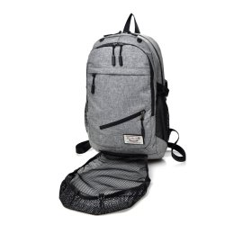New Fashion Gym School Sports Bags Backpack with USB Charging and Headphone Jack