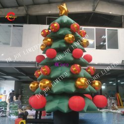 5m6m high best quality inflatable model outdoor christmas trees giant inflatable christmas decoration