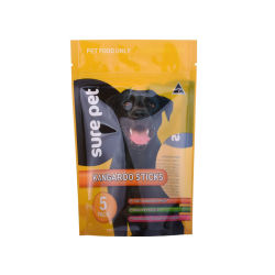 Customize Size Full Color Printing Resealable Compostable Packing for Pet Food