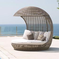 Bird's Nest Sunshine Lounge Beach Circular Dome Garden Furniture Rattan Sunbed T680