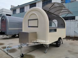 Ce Proved Food Cart with Waffle Coffee Crepe Candy Popcorn Camping Trailer