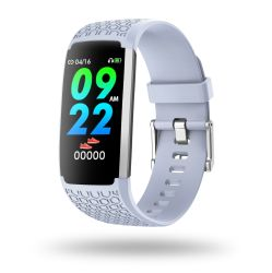 Shenzhen Factory Wholesale Android Heath Product Blood Pressure Waterproof Steel Hl22 Pink Smartwatch for Man Sport