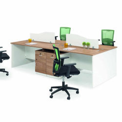 Home Black Cheap Corner Two PC Cubicle Ergonomic 1 2 4 6 Person Office Modular Computer Double Staff Workstation Desk with Drawers for Home/School/Office