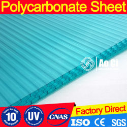 Clear Honeycomb PC Hollow Sheet for Swimming Pool Roof