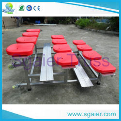 Dismountable Steel Seating Bleachers System with Plastic Seats
