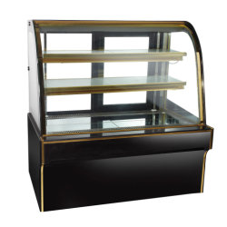 New Fashion Black Marble Curved Door Cake Display Chiller Pasrty Display Cold Cooler
