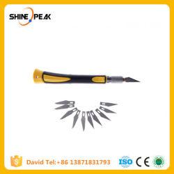Non-Slip Metal Handle Scalpel + 10PCS Blade Knife Wood Paper Cutter Craft Pen Knives, Engraving Hobby Knivesdiy Hand Tools