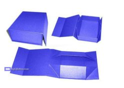 Handmade Folding Gift Box with Logo Hot Silver Foil