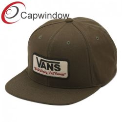 505cb63d9fd4c Promotion Canvas Fabric 5 Panel Snapback Hat with Custom Woven Patch